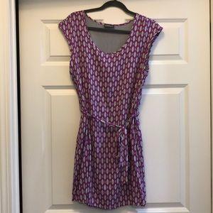 Market and spruce short sleeve belted dress